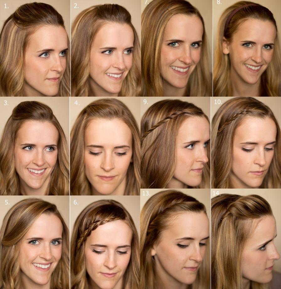 Куча способов красиво уложить длинную челку на длинных волосах