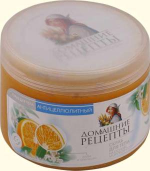 """Антицеллюлитный скраб """"Домашние рецепты"""" апельсиновый"""