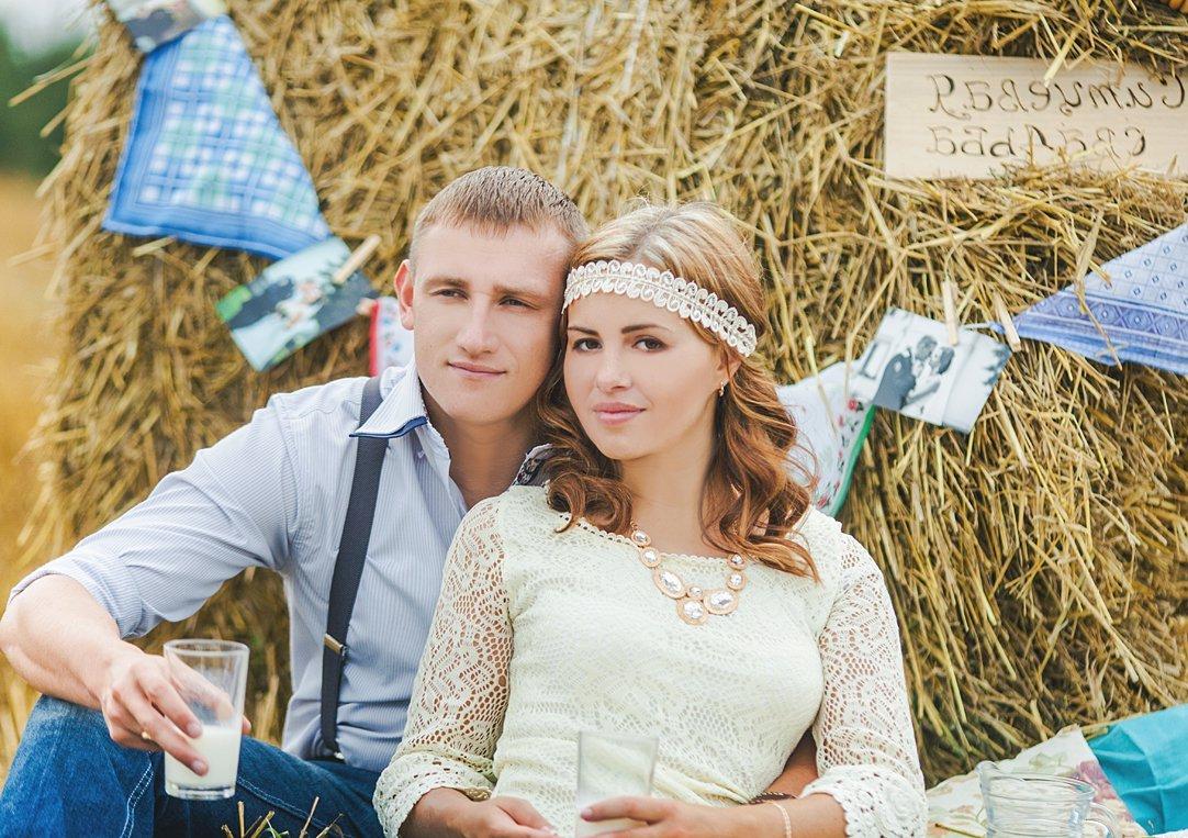 фотография пары на ситцевую свадьбу