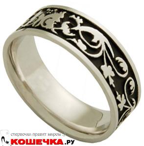 Кольцо: Белое и черное золото