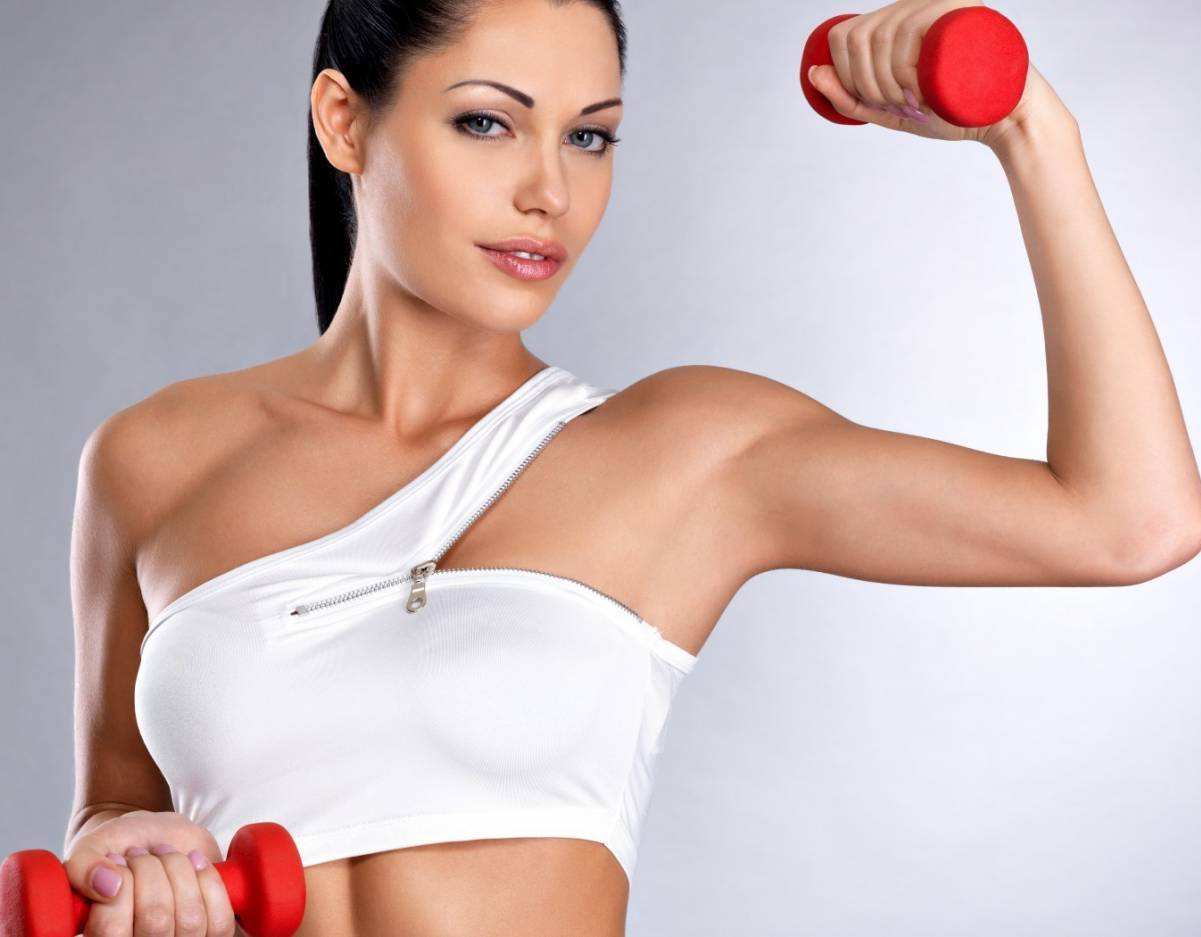 как накачать мышцы девушке