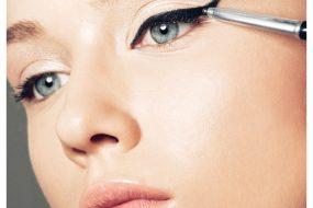 Как и чем ровно нарисовать стрелки на глазах?