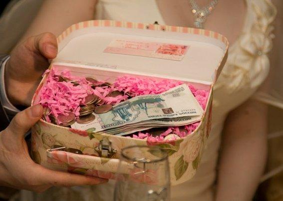 как вручить подарок на свадьбу