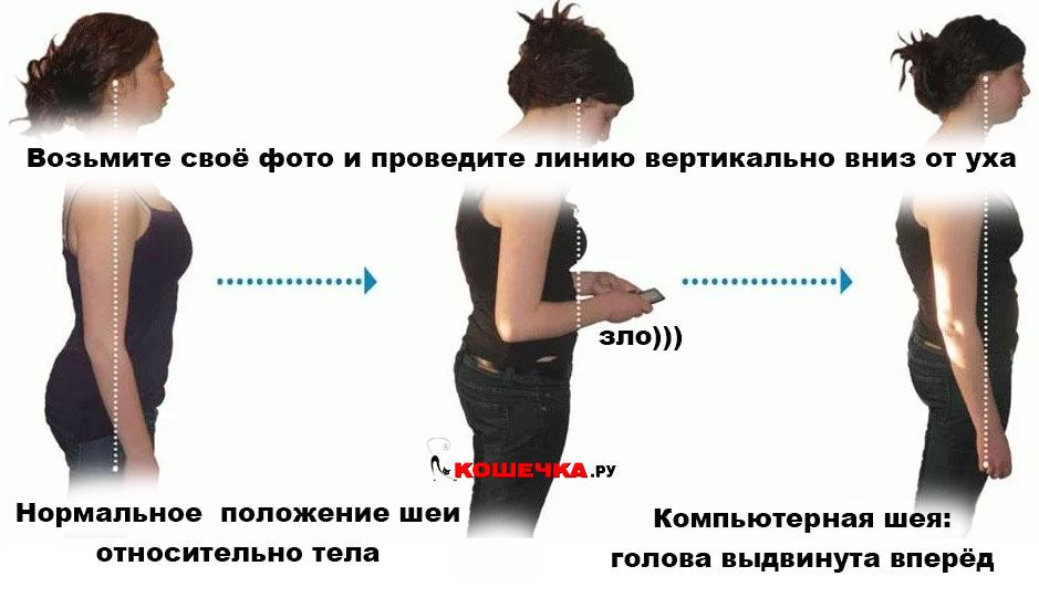 текстовая шея фото