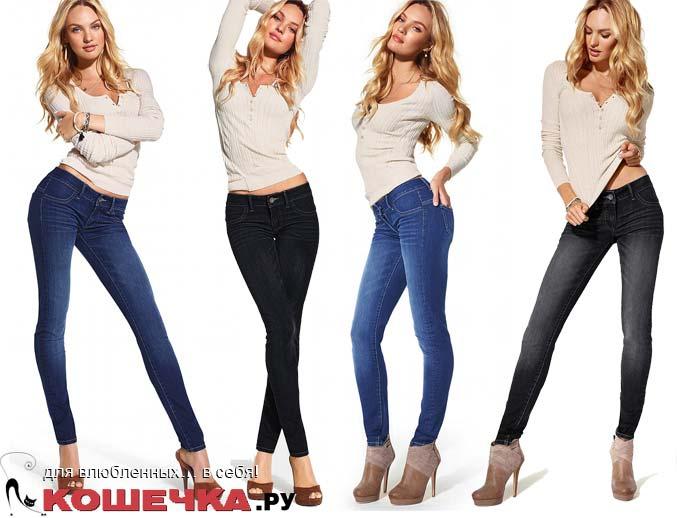 модно носить джинсы