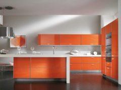 Оранжевая кухня: интерьер, дизайн, фото