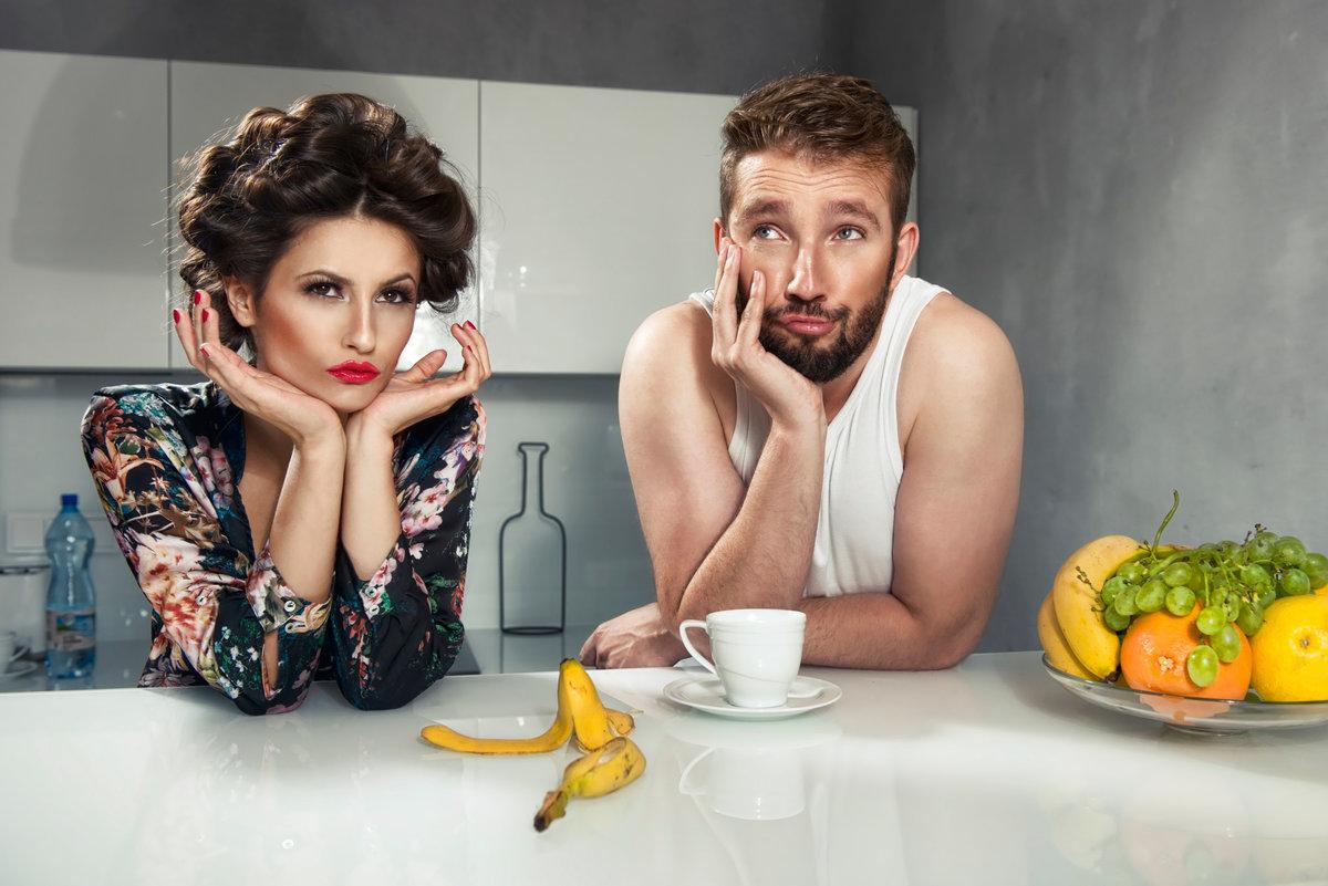 супруги на кухне
