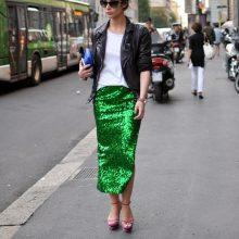 С чем можно надеть зеленую юбку?
