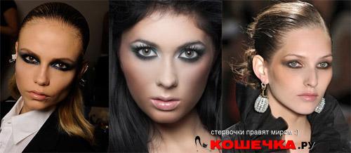 Темный макияж фото
