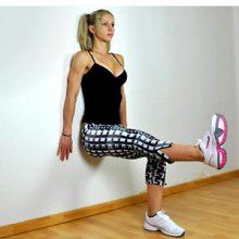 Как делать упражнение «стенка» для ног