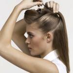 заколоть волосы шпильками